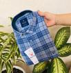 Allen Solly Check Shirts - Light Blue