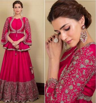 Magenta designer lehenga choli dress