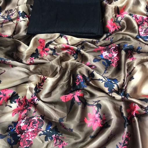 Japan crepe saree with digital print
