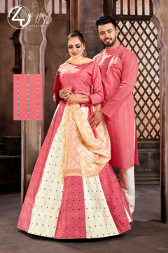 Ethnic Couple Combo Dress - Pink