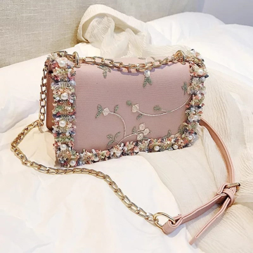 Designer Sling Bag - Pink