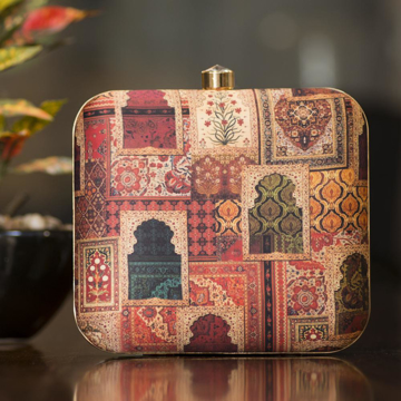 Square Clutch with traditional print