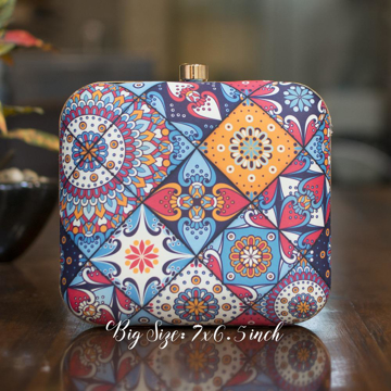 Beautiful Printed Square Clutch
