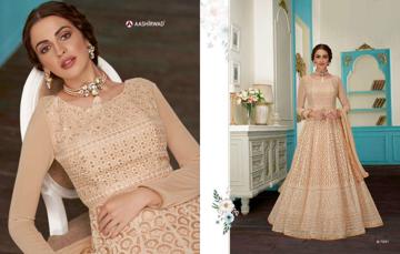 Heavy Designer Ethnic Gown - Beige