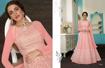 Heavy Designer Ethnic Gown - Baby Pink