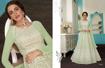 Heavy Designer Ethnic Gown - Pista