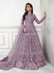 Designer pakistani style gowns - purple