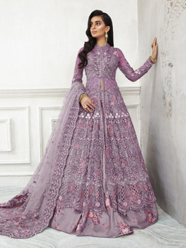 Designer pakistani style gowns - purple