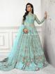 Designer pakistani style gowns - Blue