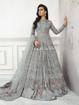 Designer pakistani style gowns - Grey