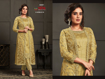 Designer Kurti Pants with Jacket - Golden