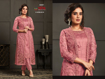 Designer Kurti Pants with Jacket - Pink