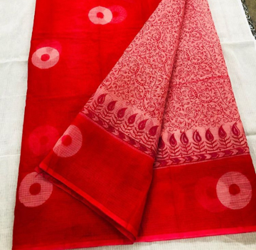 Hand block printed sarees for women