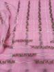 Floral embroidery Kota Doria Dress Material - Pink