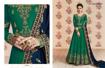 Designer Georgette Party Wear Gowns - Bottle Green