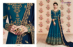 Designer Georgette Party Wear Gowns -Firozi