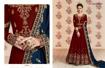 Designer Georgette Party Wear Gowns - Maroon
