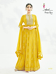 Semi stitched designer gown with dupatta - yellow