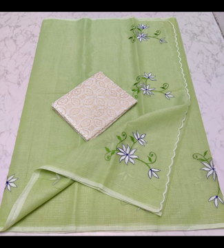 Kota cotton embroidery sarees for summers