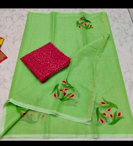 Kota doria cotton sarees at wholesale rate online - green tulip