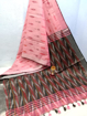 Ikkat Cotton Saree - Pink