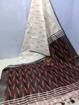 Ikkat Cotton Saree - White