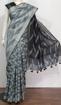 Cotton Ikkat sarees for summers - grey