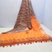 Cotton Ikkat sarees for summers in shades of orange - maroon