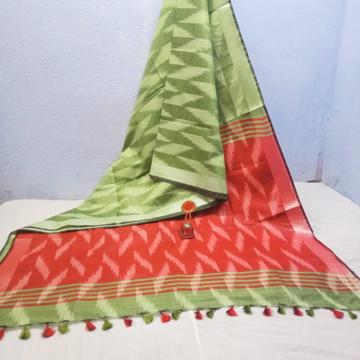 Cotton Ikkat sarees online