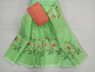 Kota Doria Saree with Floral Embroidery Online - Spring green