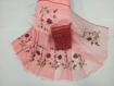 Kota Doria Saree with Floral Embroidery Online - Peach