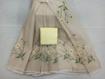 Kota Doria Saree with Floral Embroidery Online - Beige