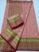 Kota Doria Zari Work Sarees Online - Pink