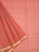 Koto Doria Printed Sarees for summers - Peach