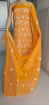 Chikankari dress material in Kota Doria - Yellow