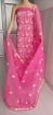 Chikankari dress material in Kota Doria - Pink