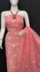 Kota Doria Chikankari Dress Material - pink