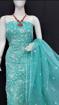 Kota Doria Chikankari Dress Material - blue