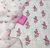 Kota Doria Embroidery Dress Material - White