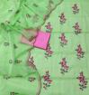Kota Doria Embroidery Dress Material - Mint Green