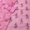 Kota Doria Embroidery Dress Material - Rose Pink