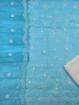 Embroidered Kota Doria Dress Material - Blue